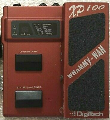 Used XP-100 Digitech Whammy Wah Pitch Shifter Tuner Guitar Effects Pedal F/S