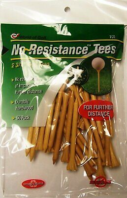 JEF WORLD OF GOLF 5 Pronged No-Resistance Tees 2 3/4-Inch - 50 Per Pack - NEW