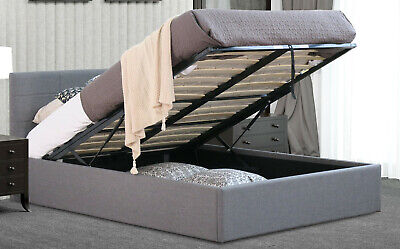 Incredible Chanel Fabric Gas Lift Ottoman Bed In Grey Cream Or Mocha Gamerscity Chair Design For Home Gamerscityorg