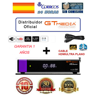 GTMEDIA V8 Honor H.265 Receptore de TV por satélite+2.4G WIFI+HDMI Set Top Box