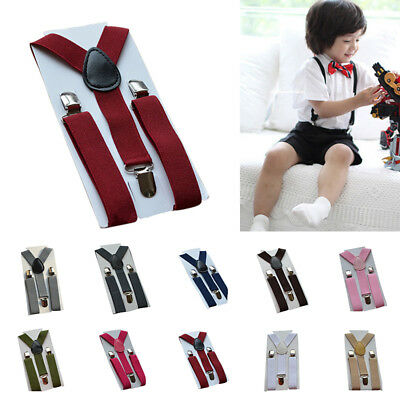 Suspenders Adjustable Kids Girls Elastic Braces Clip-on 2.5cm Children Toddler