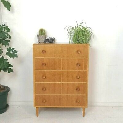 Vintage Mid Century Meredew Tallboy Chest of Drawers