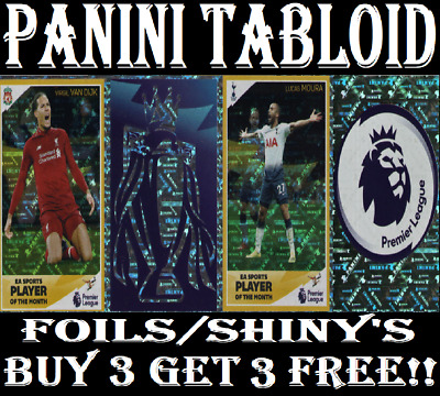 Panini Tabloid Sticker Collection ☆  Shiny Foil☆  Stickers ☆ Buy 3 Get 1 Free!!