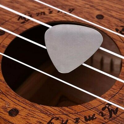 GUITAR PICK Plectrum stainless steel METAL acoustic electric bass lead 0.30mm uk