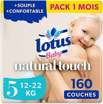 Lotus Baby Touch - Couche Taille 5 (12-22 kg)  Pack de 250 (5*50)