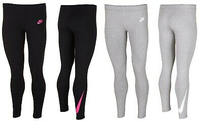 Nike Junior Girls Leggings Leggins Jogging Bottoms Running Pants Gym