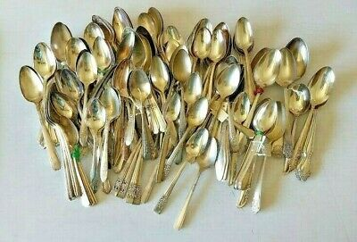 Mixed Lot of 165 Vintage/Antique Silverplate Spoons