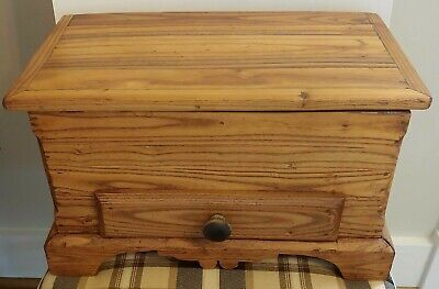 19thC Antique American Chestnut Miniature Chest with Drawer - Beautiful Patina