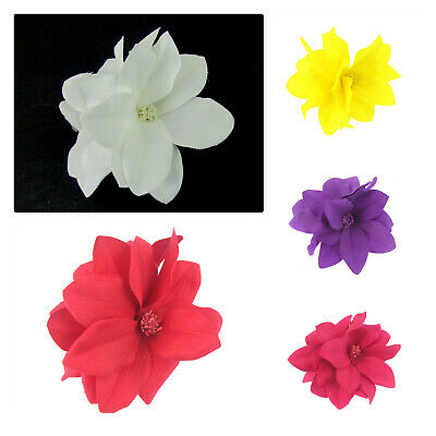 double flower hair clip with brooch pin  choice of colour,weddings, ladies day