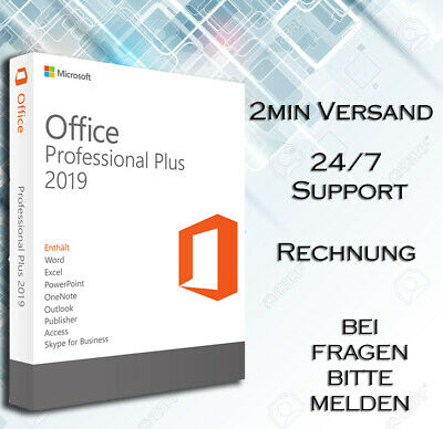 ⇨ MS Office 2019 PRO PLUS ⇨ 1-5 PC ⇨ 32&64 Bits ⇨ OEM + DOWNLOADLINK