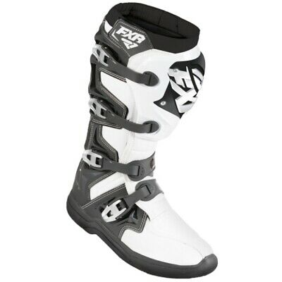 New FXR Factory Ride MX Motocross Boots - White/Black