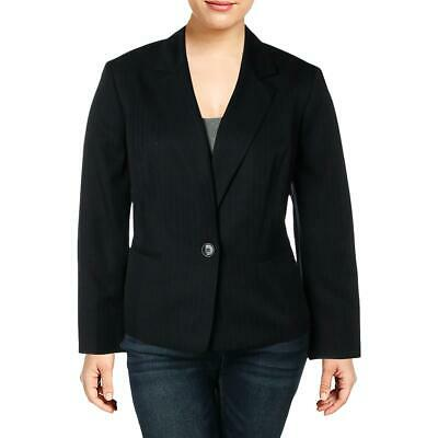 DKNY Womens Black Exaggerated Fit One-Button Suit Jacket Blazer 10 BHFO 5177
