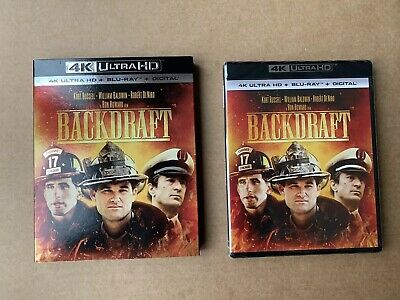 BACKDRAFT 4K UHD Blu Ray Region free US Import Kurt Russell New & Sealed