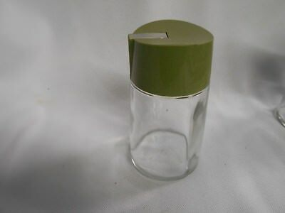 vintage Bloomfield USA glass sugar pourer restuarnte style with retro green lid