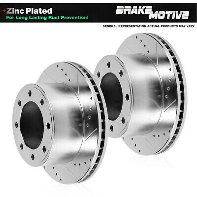 Auto Shack SMK679-PR64044 Front Drilled and Slotted Brake Rotors and Semi Metallic Pads