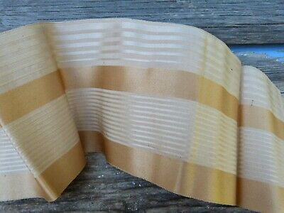 """Antique 1850/1900 old French Victorian striped  silk  large ribbon  84 """" x  4 """""""