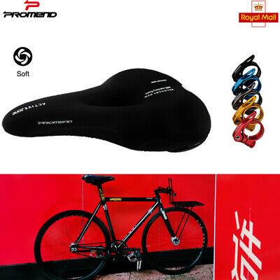Silica Gel Cycling Bicycle Saddle Cushion Seat Soft Comfortable MTB with Clamp