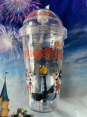 NEW Disney EPCOT FAREWELL TO ILLUMINATIONS Mickey Minnie Mouse Light Up Tumbler