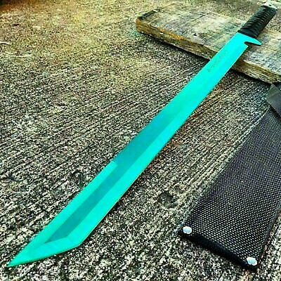 "27"" Full Tang Ninja Machete Katana Sword Zombie Tactical Survival Knife New -M"