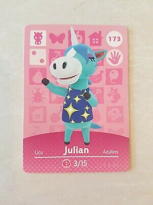 animal crossing new leaf welcome  amiibo card Julian 173