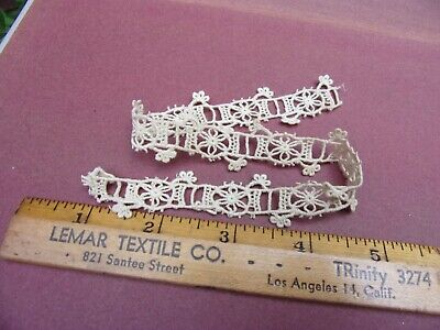 "11"" length unusual antique machine made sewing lace~trim~3/4"" wide~costumes~art~"