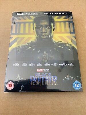 Black Panther 4K UHD+Blu Ray Steelbook (Lenticular Cover) New & Sealed Marvel