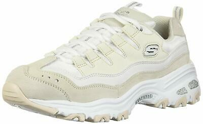 b63101f122f89 Skechers Women's D'Lites-Sure Thing Sneaker, White/Natural, Size 7.5