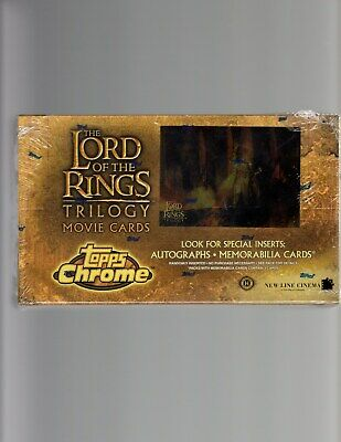 Lord of the Rings  Crome Trilogy Movie cards sealed Box