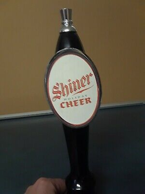 "Shiner Holiday Cheer Seasonal 11""  Collectible Draft Beer Keg Tap Handle"