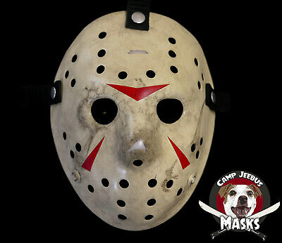 """Friday the 13th Part 3 (III) """"Film Accurate"""" Hand painted Jason Hockey Mask"""