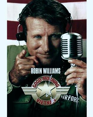 Robin Williams Good Morning Vietnam Signed 8x10 Photo MUST SEE autographed + COA
