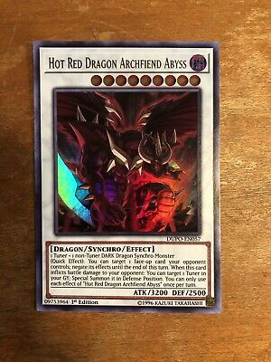 Yugioh Hot Red Dragon Archfiend Abyss - DUPO-EN057 - Ultra Rare 1st Edition M/NM