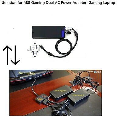 AC Adapter for MSI Dual Power Supply Gaming Laptop Solution
