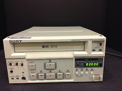 Sony Svo-9500Md Pro Medical Color Vhs Svhs Video Recorder Vcr & 30 Day Warranty
