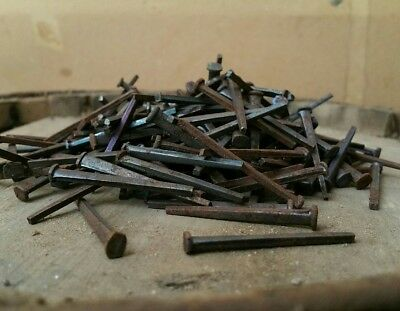 """1.5"""" Old iron square nails 1800s 1,000cnt"""