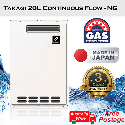 Thermastar 20L Continuous Flow LPG Gas Hot Water Heater, Japan Made, Free post