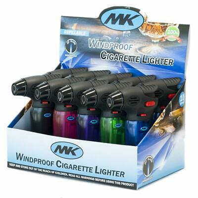4 Pack MK Butane Torch Lighter Gun Windproof Adjustable Jet Flame Refillable
