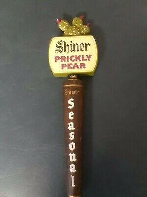 SHINER PRICKLY PEAR Metal and Wood Draft Beer Tap Handle Collectible Man Cave...