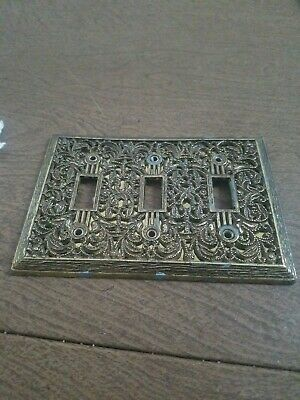 Edmar Light Switch Cover Art Nouveau Floral Mirrored Gothic Vintage Victorian