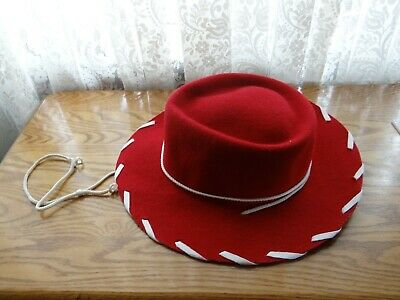 ea9d38b0c CHILDS GIRLS WESTERN Woody Jessie Style Kids Cowboy Ranch Hat RED ...