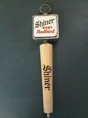 SHINER RUBY RED BIRD Metal and Wood Draft Beer Tap Handle Collectible Home Bar