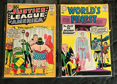 DC SUPERHERO COMIC LOT(2) KEYS_Justice League #7_Worlds Finest #104_ Nice!!  NR