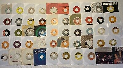 45 RPM record Lot Of 50 Pop, Rock, Funk, Soul, Jazz See Pics 4 Titles Sleeved O