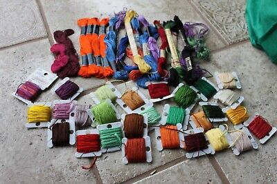 Cross Stitch Craft Sewing DMC Coats Embroidery Floss thread 45+ skeins lot OR