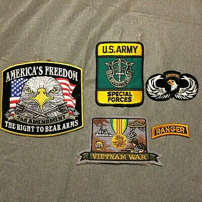 5 -U.s Army Military Patches, Ranger, Special Forces, Airborne,Vietnam War