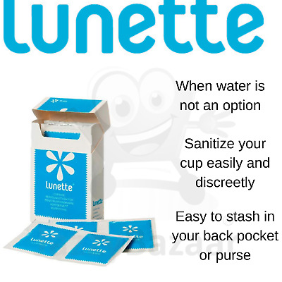 Lunette Disinfecting Wipes 10pk For Sanitising Your Menstrual Cup Camping Travel