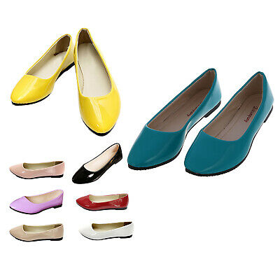 NEW Womens Ladies Flat Ballerina Ballet Casual Loafers Slip on Pumps Shoes, C3J1