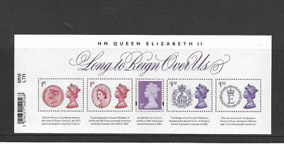 Great Britain 2015 Long to Reign Over Us MINI SHEET.  MNH. FV £5.14