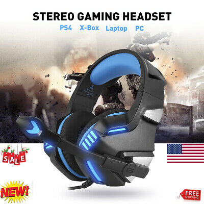 3.5mm Gaming Headset for PC Mac Laptop PS4 Xbox One iPad with Mic LED Headphones