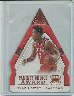 2018-19 Crown Royale Choice Award Copper #37 Kyle Lowry 96/99 Toronto Raptors